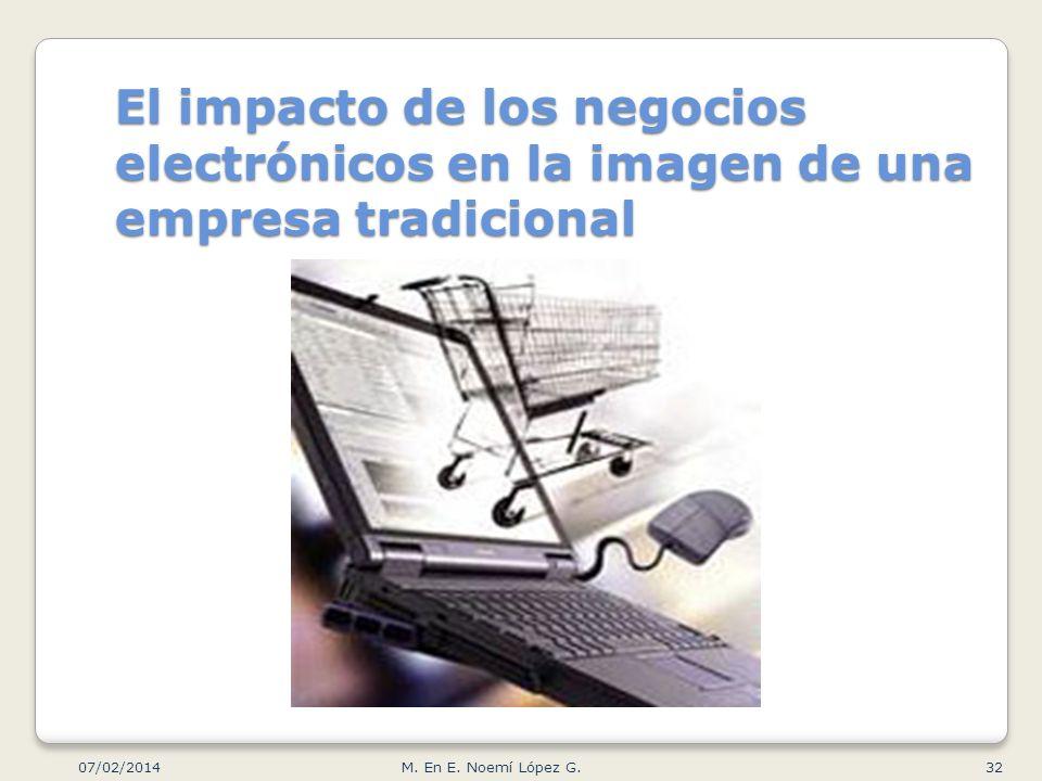 El impacto de los negocios electrónicos en la imagen de una empresa tradicional 07/02/2014 32M. En E. Noemí López G.