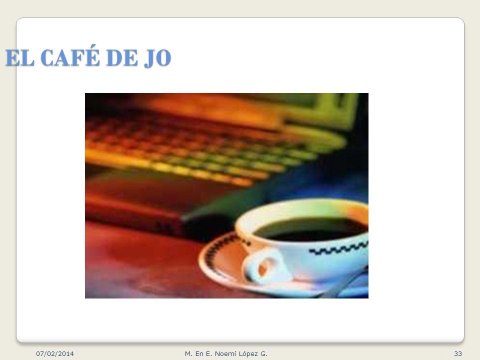 EL CAFÉ DE JO 07/02/2014 33M. En E. Noemí López G.