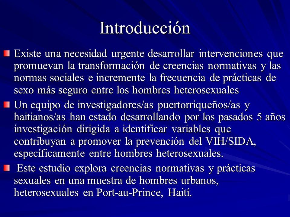 Introducción Existe una necesidad urgente desarrollar intervenciones que promuevan la transformación de creencias normativas y las normas sociales e i