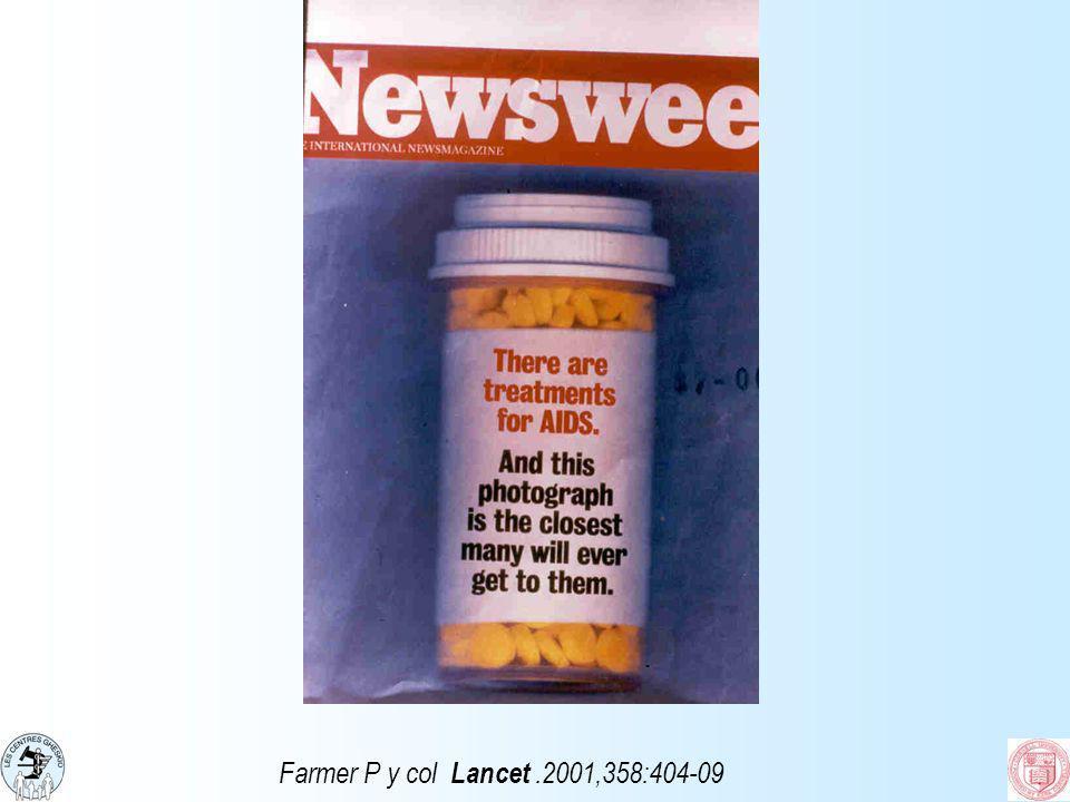 Farmer P y col Lancet.2001,358:404-09