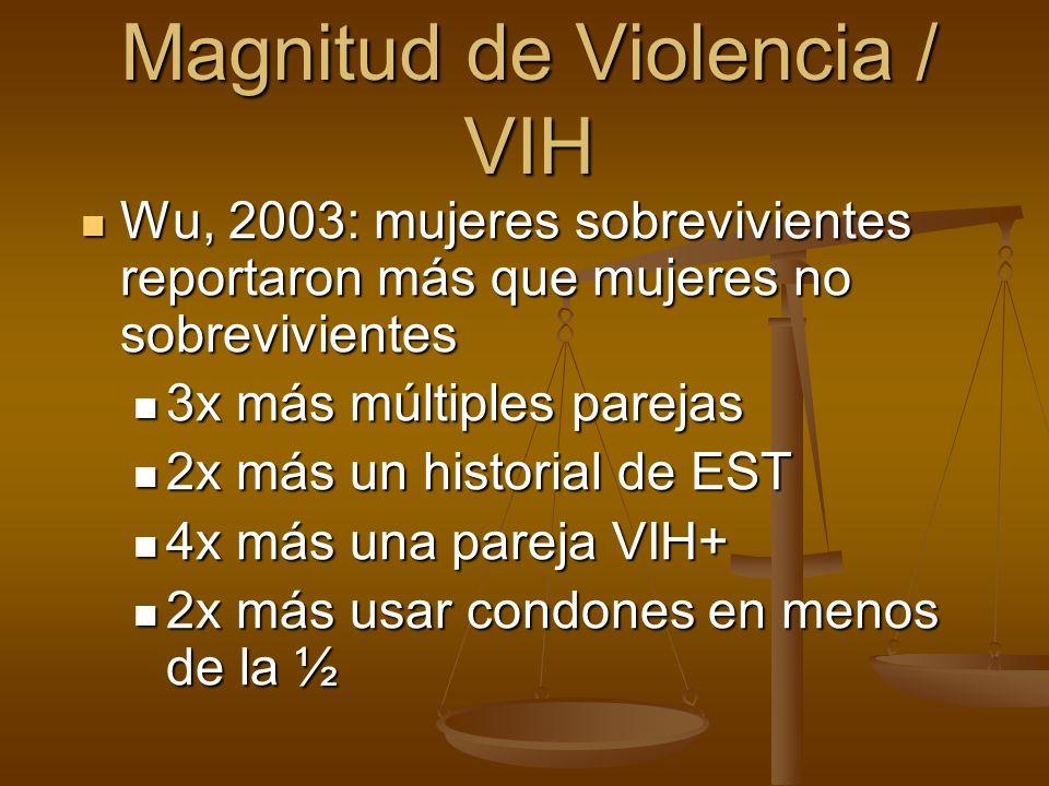 Wu, 2003: mujeres sobrevivientes reportaron más que mujeres no sobrevivientes Wu, 2003: mujeres sobrevivientes reportaron más que mujeres no sobrevivi