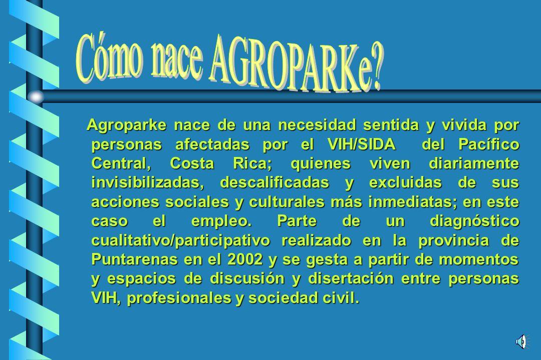 AGROPARKe FINCA MODELO Empresa auto/gestionaria generadora de empleabilidad a personas afectadas por el VIH/SIDA.