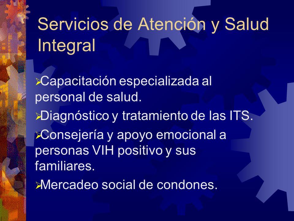 Servicios de Atención y Salud Integral Capacitación especializada al personal de salud.