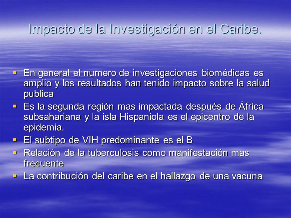 Impacto de la Investigación en el Caribe.