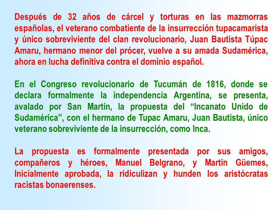 Después de 32 años de cárcel y torturas en las mazmorras españolas, el veterano combatiente de la insurrección tupacamarista y único sobreviviente del