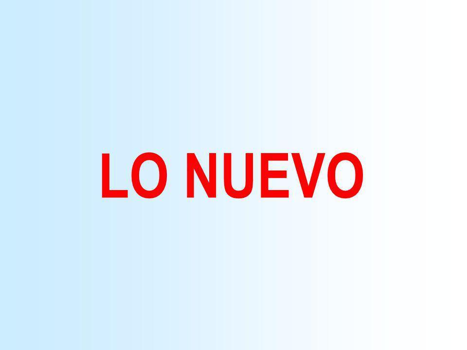 LO NUEVO