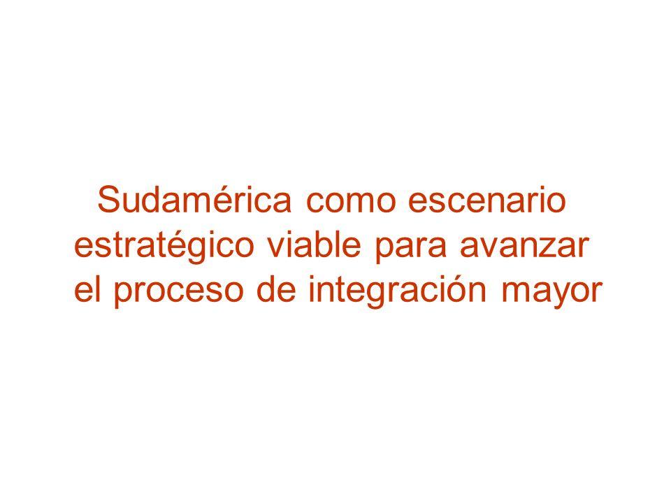 Sudamérica como escenario estratégico viable para avanzar el proceso de integración mayor