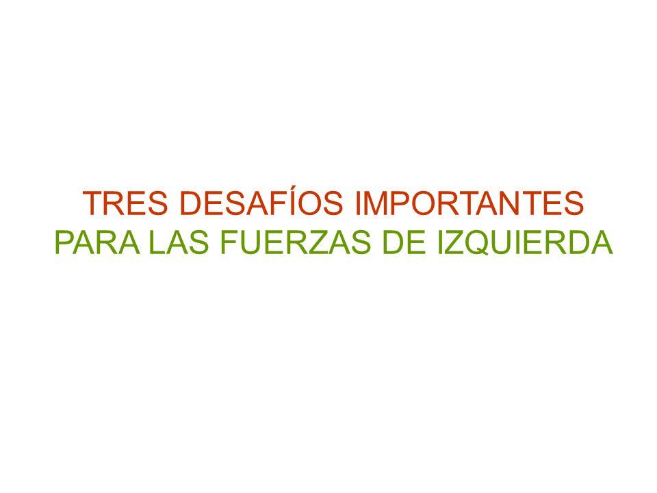 TRES DESAFÍOS IMPORTANTES PARA LAS FUERZAS DE IZQUIERDA