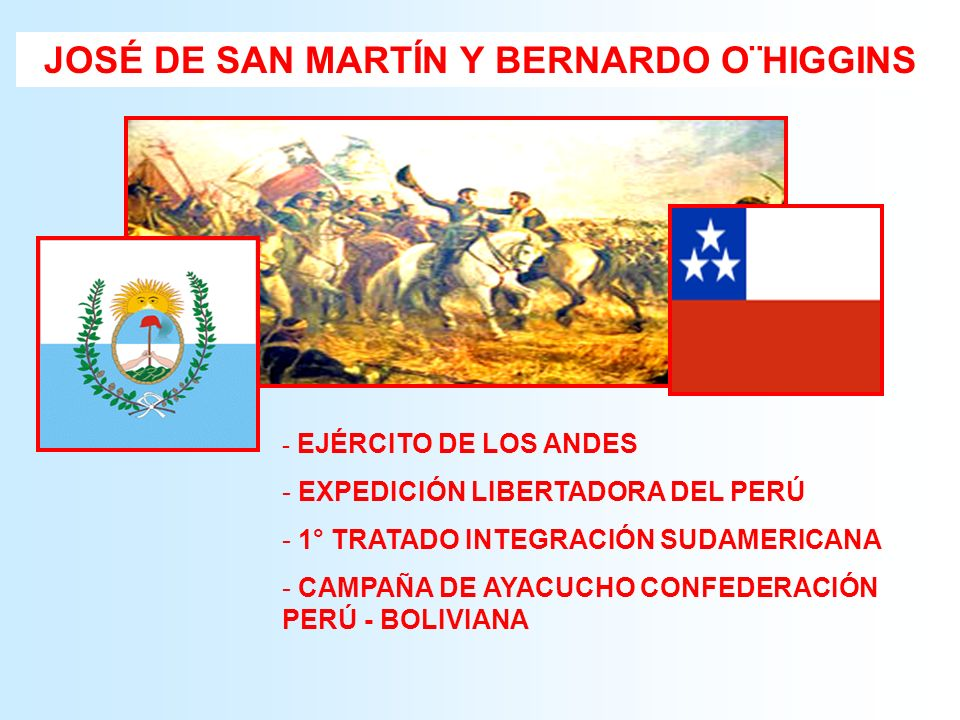 - EJÉRCITO DE LOS ANDES - EXPEDICIÓN LIBERTADORA DEL PERÚ - 1° TRATADO INTEGRACIÓN SUDAMERICANA - CAMPAÑA DE AYACUCHO CONFEDERACIÓN PERÚ - BOLIVIANA J