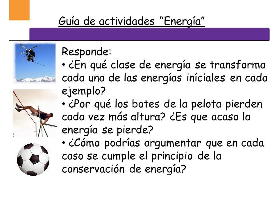 DEGRADACIÓN DE LA ENERGÍA Se denomina así, al proceso en que hay una transformación de la energía. Una energía situada mas arriba del esquema, pasa a