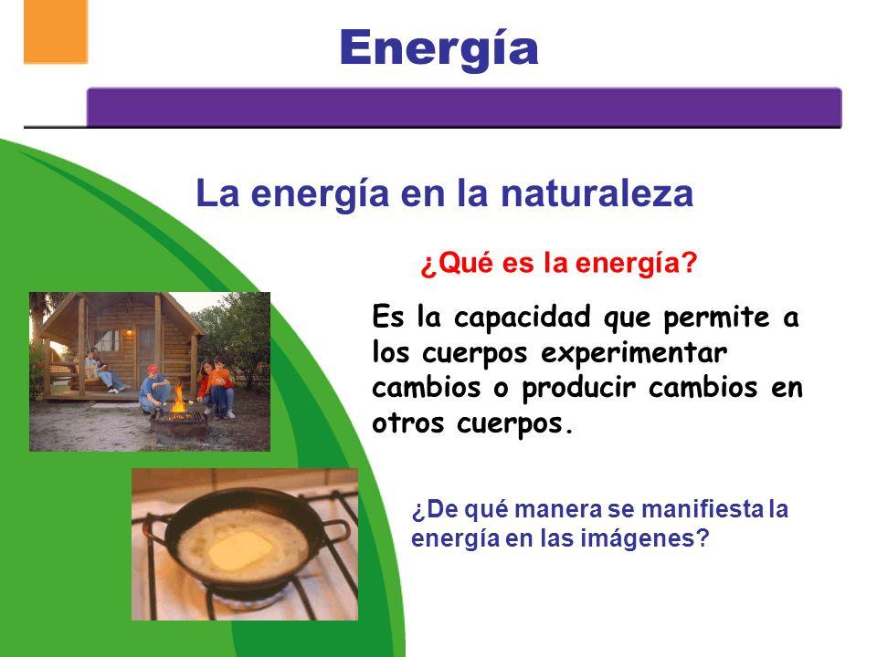 UNIDAD 2: ¿QUÉ APRENDEREMOS? ¿Qué es la energía? ¿Qué características presenta la energía? Formas en que se manifiesta la energía Tipos de energía Ley