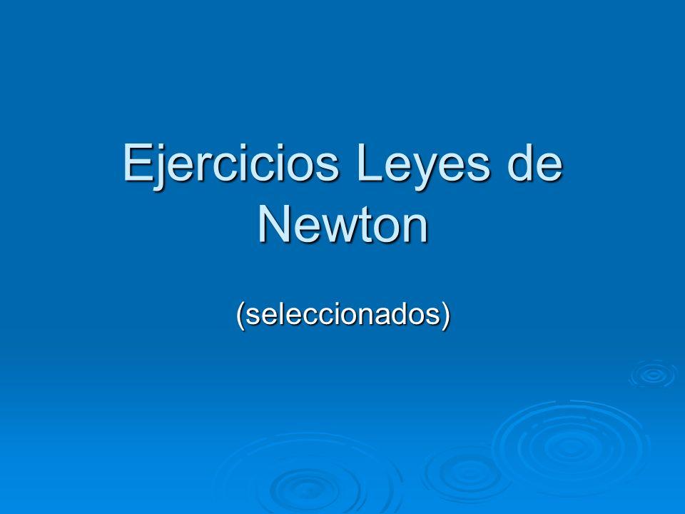 Ejercicios Leyes de Newton (seleccionados)
