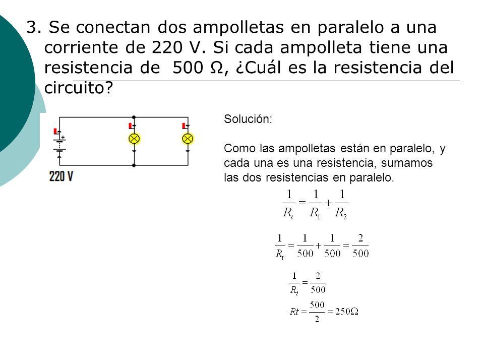 4.¿Cuál es la resistencia total (o resistencia equivalente) del circuito.