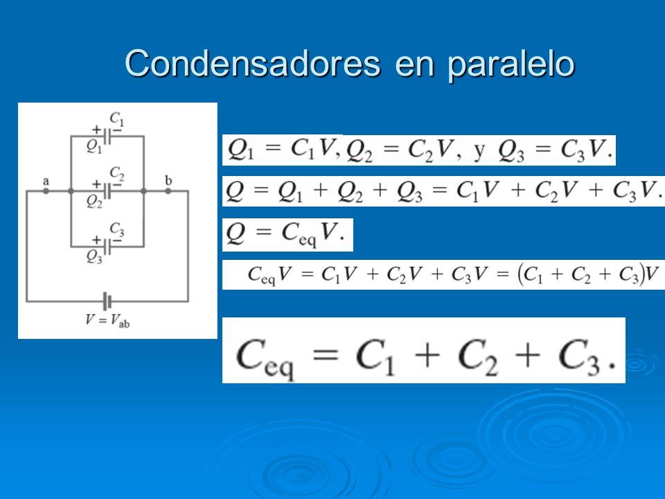 Condensadores en paralelo