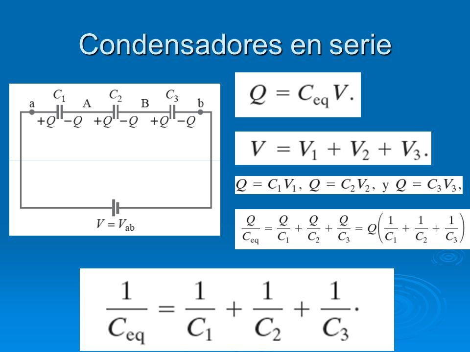 Condensadores en serie