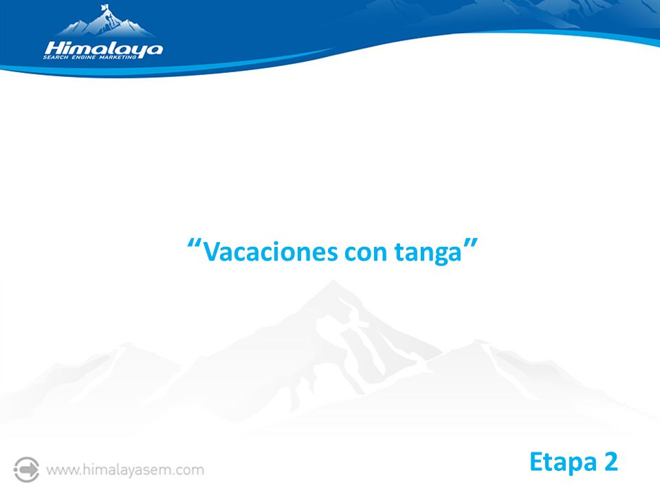 Vacaciones con tanga Etapa 2