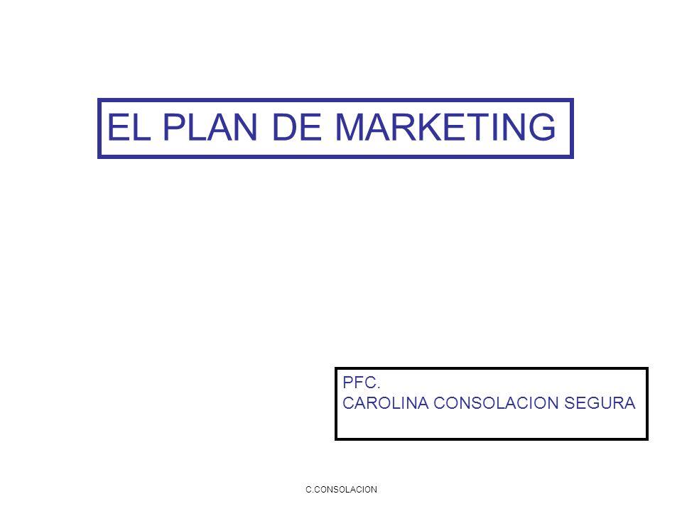 C.CONSOLACION EL PLAN DE MARKETING PFC. CAROLINA CONSOLACION SEGURA