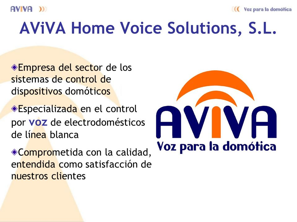 AViVA Home Voice Solutions, S.L.