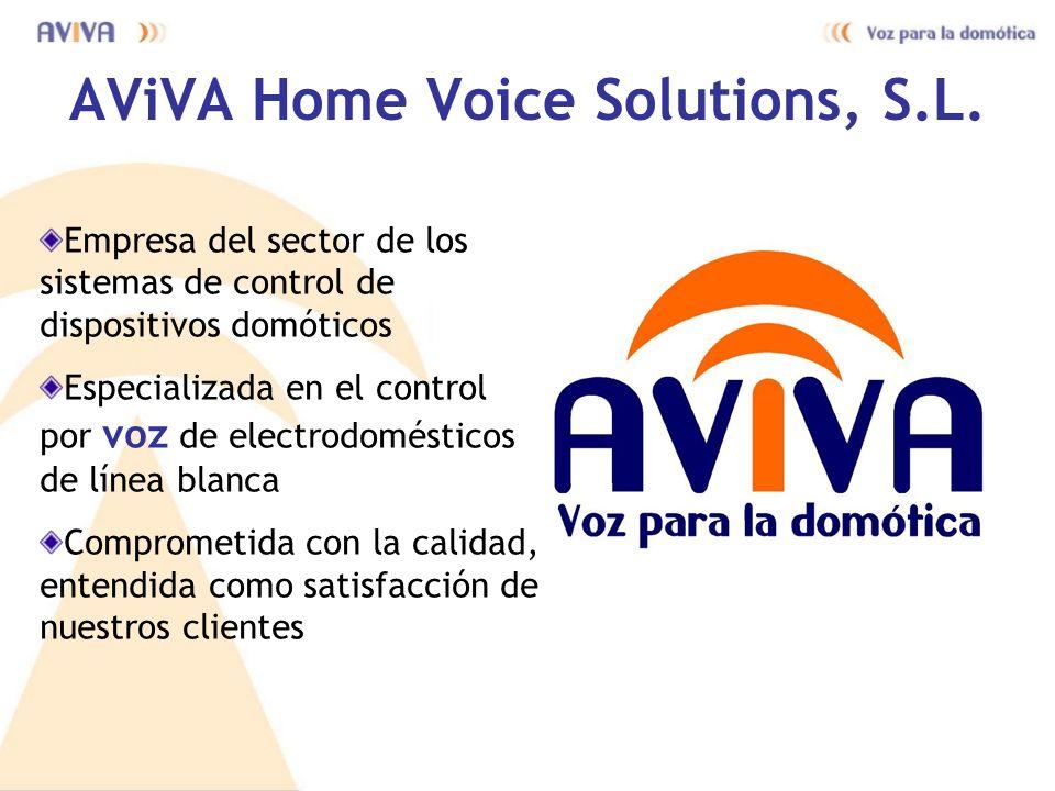 AViVA Home Voice Solutions, S.L. Empresa del sector de los sistemas de control de dispositivos domóticos Especializada en el control por voz de electr
