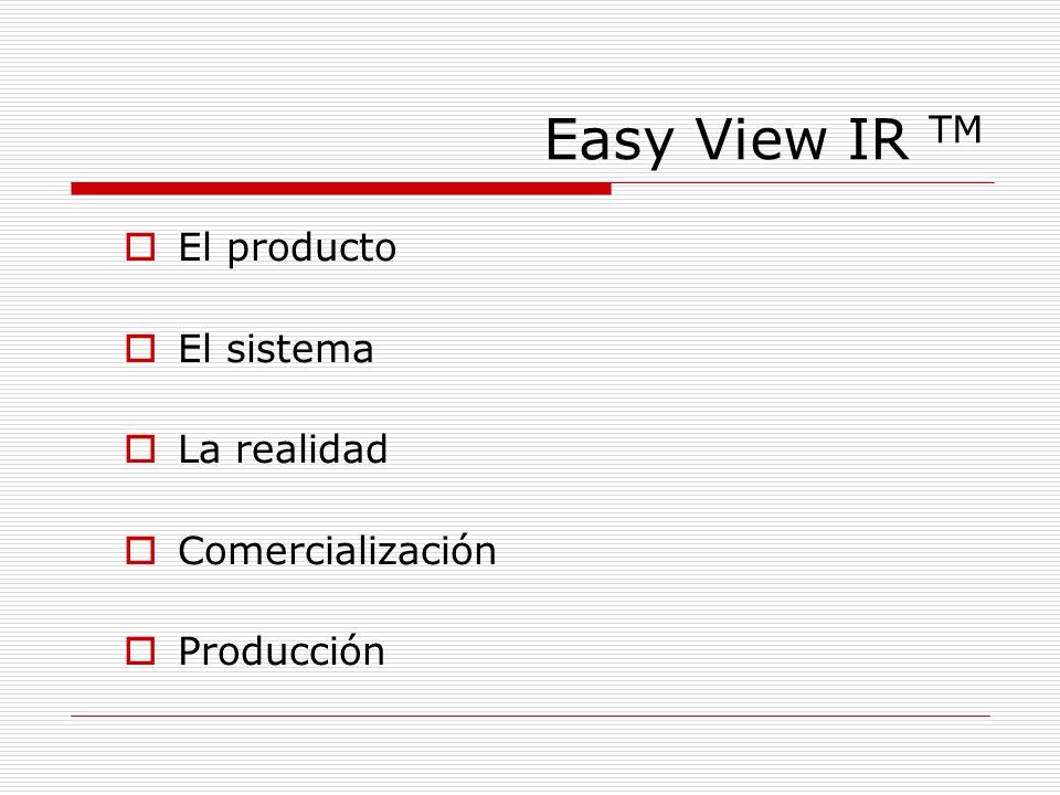 Easy View IR TM El producto El sistema La realidad Comercialización Producción