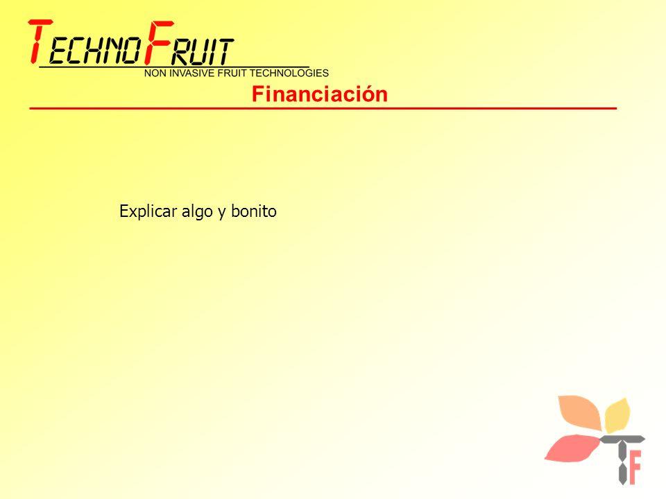 Financiación Explicar algo y bonito