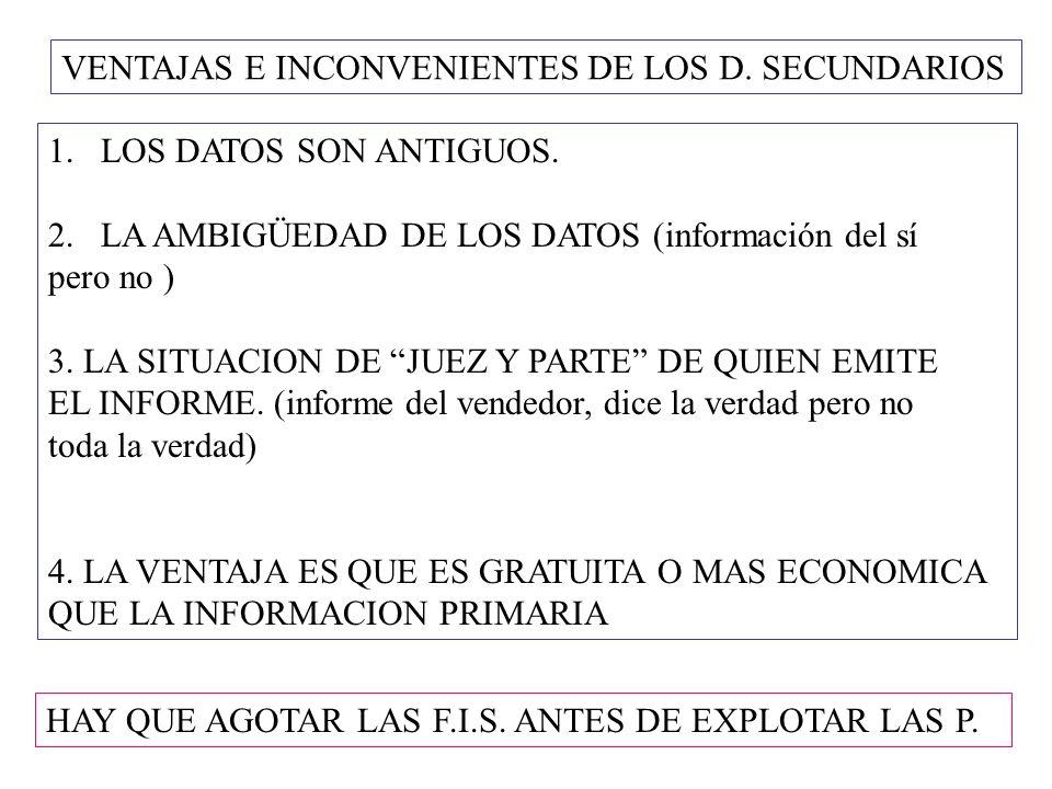 I.C.POR LA NATURALEZA DE LA INFORMACION ESTUDIOS CUANTITATIVOS.