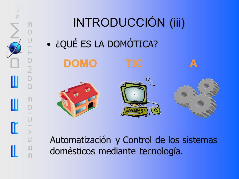INTRODUCCIÓN (iii) ¿QUÉ ES LA DOMÓTICA.