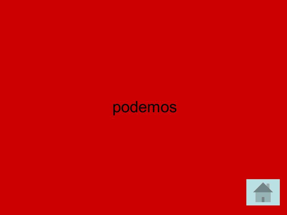 Paco y yo ___________ir a la ventanilla para las entradas. (can) answer answer