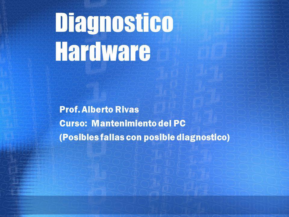 Diagnostico de Hardware 9.Si no lo hace, puede ser que entonces sea la tarjeta de video.