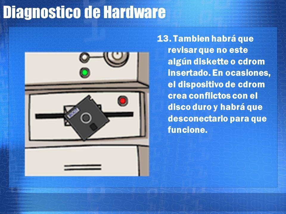 Diagnostico de Hardware 12. Termina el examen POST de la BIOS pero tarda mucho en arrancar, el siguiente y final problema, puede ser el disco duro que