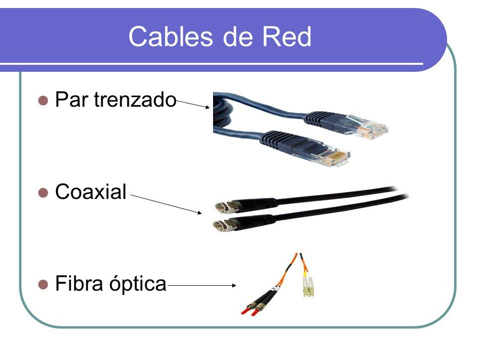Cables de Red Par trenzado Coaxial Fibra óptica