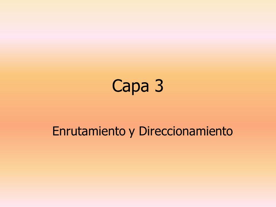 Capa 3 Enrutamiento y Direccionamiento