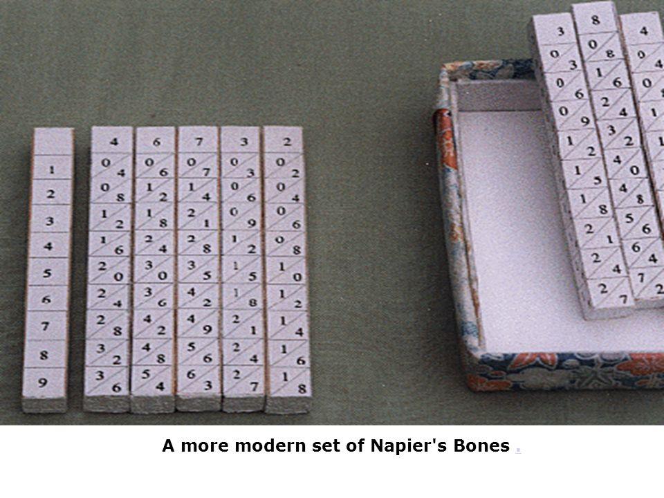 A more modern set of Napier's Bones..