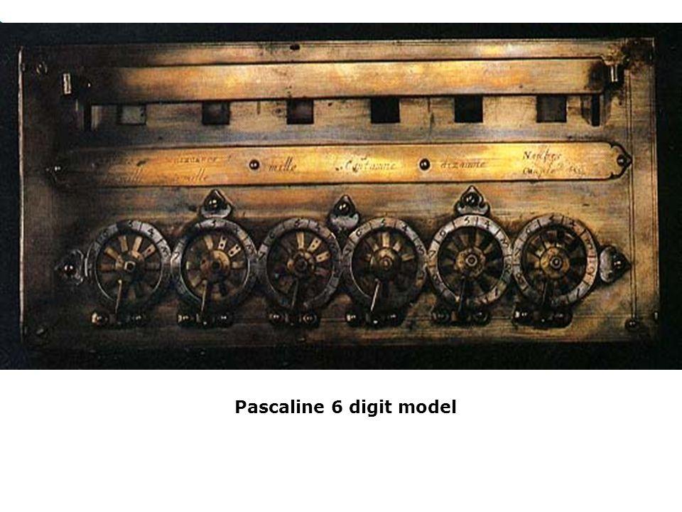 Pascaline 6 digit model