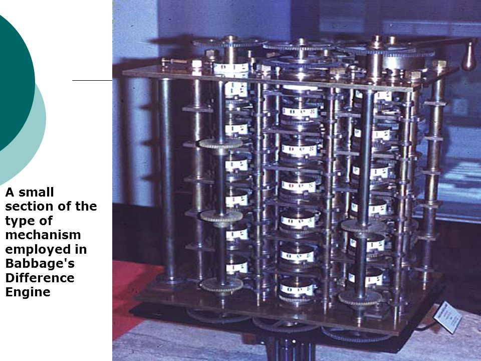 A small section of the type of mechanism employed in Babbage's Difference Engine
