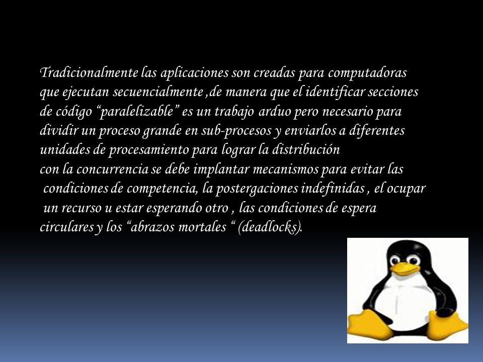 Tradicionalmente las aplicaciones son creadas para computadoras que ejecutan secuencialmente,de manera que el identificar secciones de código paraleli
