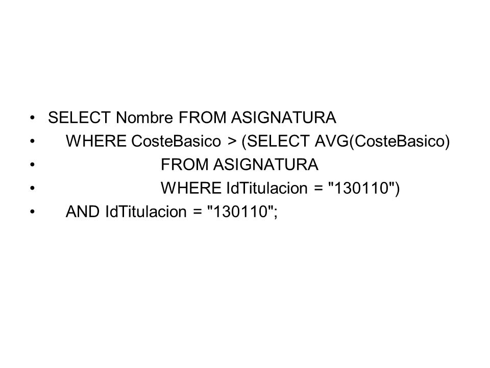 SELECT Nombre FROM ASIGNATURA WHERE CosteBasico > (SELECT AVG(CosteBasico) FROM ASIGNATURA WHERE IdTitulacion =