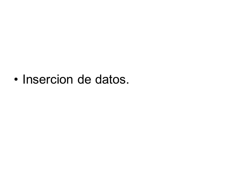 Insercion de datos.