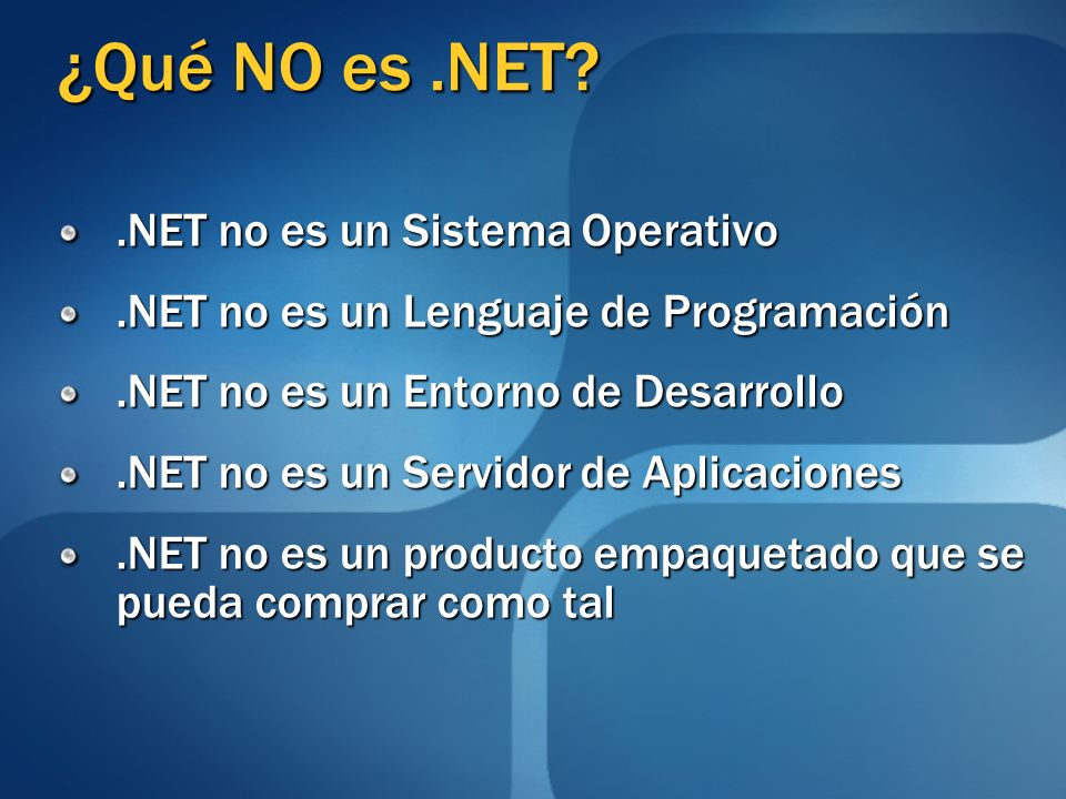 ¿Qué es.NET.