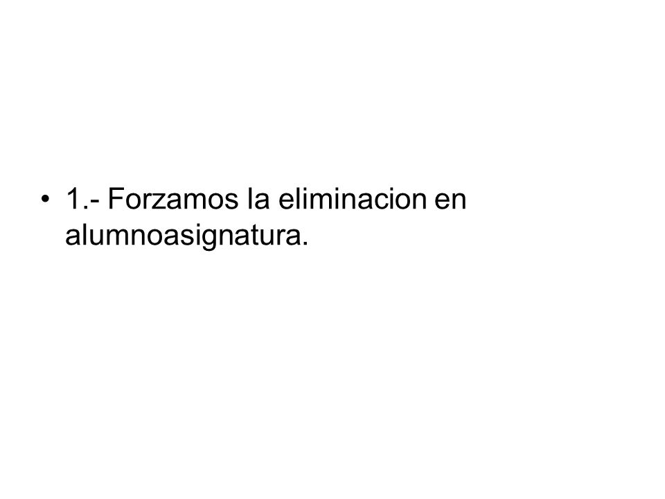 create PROCEDURE deletetitulacion(@idtit numeric(6)) AS declare @num numeric(6) if exists (select * from titulacion where idtitulacion=@idtit) begin if exists (select * from alumnoasignatura, asignatura, titulacion where alumnoasignatura.idasignatura=asignatura.idasignatura and asignatura.idtitulacion=@idtit) begin delete alumnoasignatura where idasignatura in (select idasignatura from asignatura where idtitulacion=@idtit) DELETE titulacion WHERE (idtitulacion=@idtit) return 0 end else begin DELETE titulacion WHERE (idtitulacion=@idtit) return 0 end else return 1