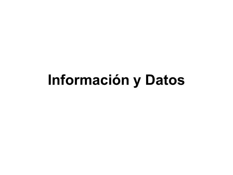 Información y Datos
