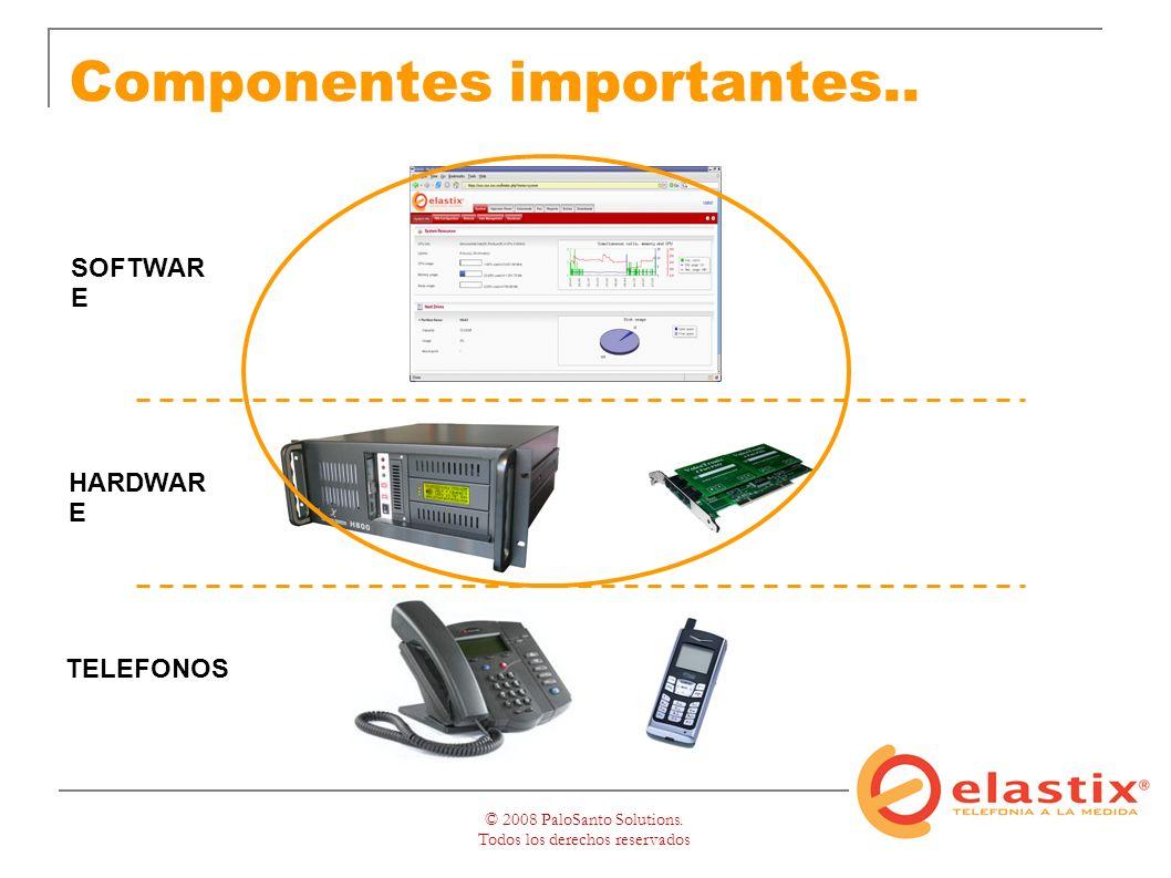 © 2008 PaloSanto Solutions. Todos los derechos reservados Componentes importantes..