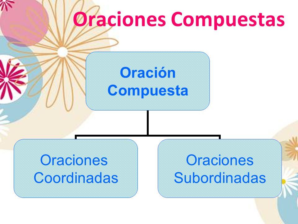 Oraciones Compuestas Oración Compuesta Oraciones Coordinadas Oraciones Subordinadas