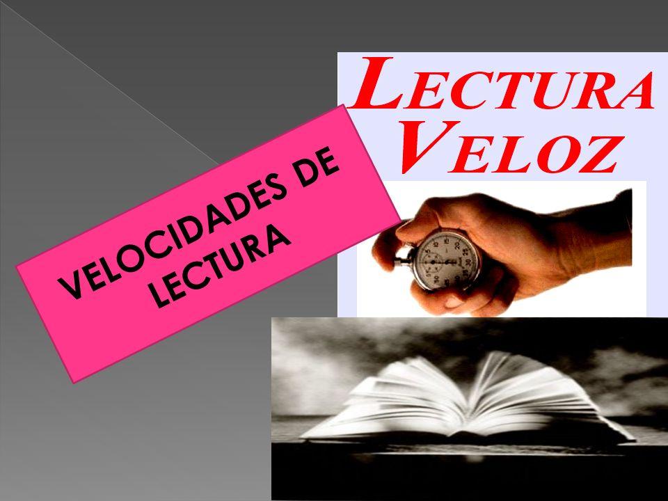 VELOCIDADES DE LECTURA