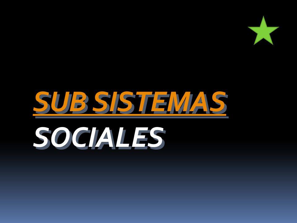 SUB SISTEMAS SUB SISTEMAS SOCIALES SUB SISTEMAS SUB SISTEMAS SOCIALES