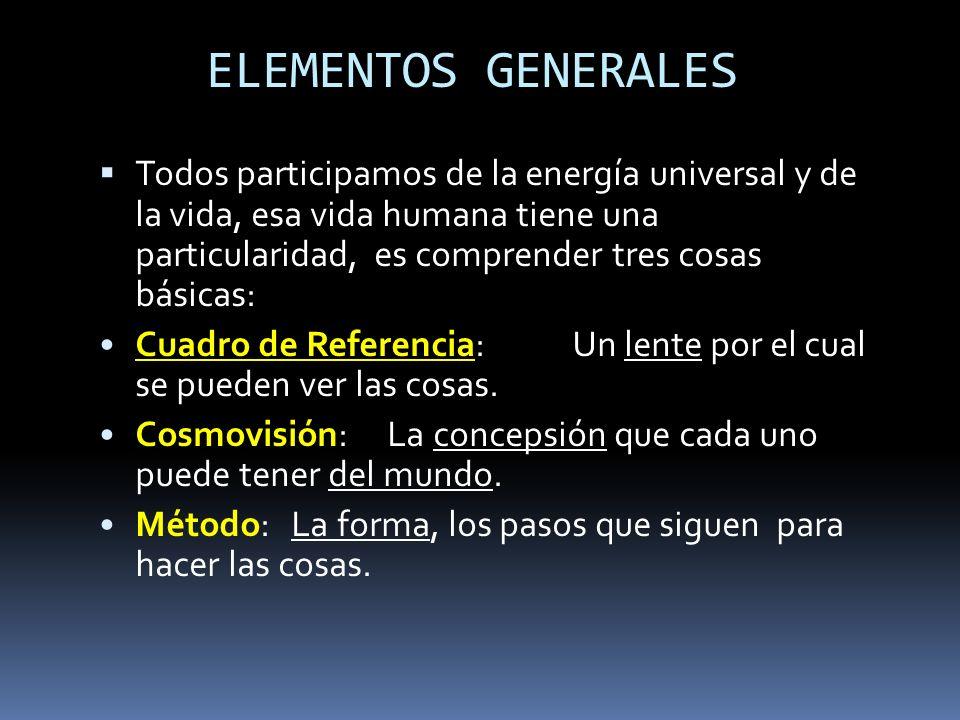 CUADRO DE REFERENCIA COSMOVISION METODO UNIGLOBAL GLOBIPENSAR UNIGLOBAL GLOBIPENSAR
