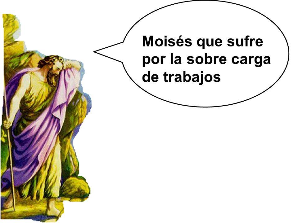 Moisés que sufre por la sobre carga de trabajos