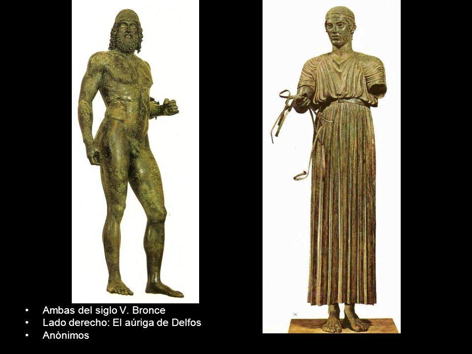 Ambas del siglo V. Bronce Lado derecho: El aúriga de Delfos Anònimos