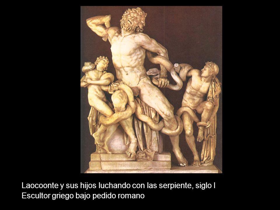 Laocoonte y sus hijos luchando con las serpiente, siglo I Escultor griego bajo pedido romano