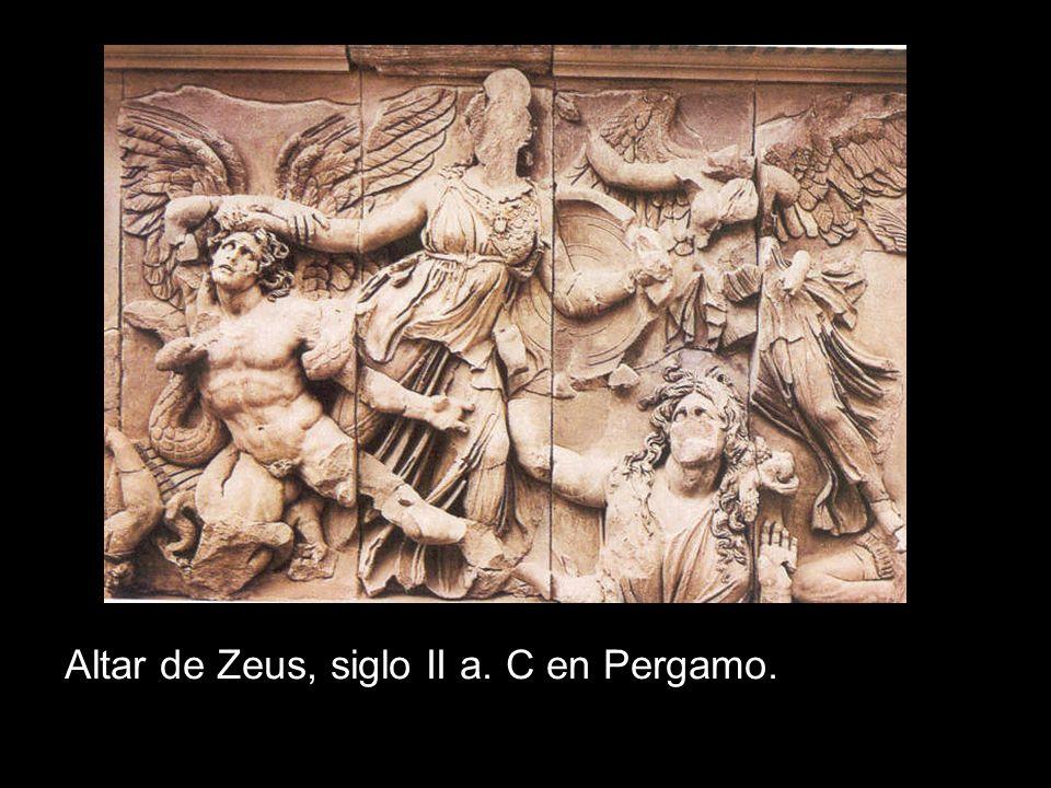 Altar de Zeus, siglo II a. C en Pergamo.